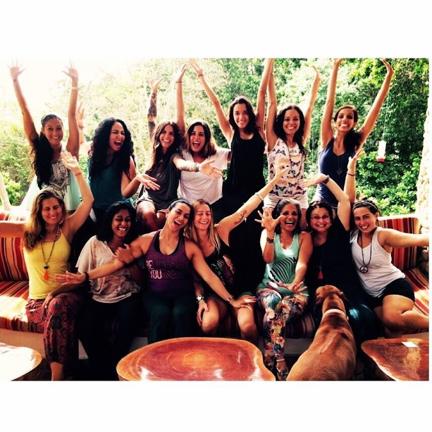 Filled with bliss after completing an amazing women's retreat in Panama.