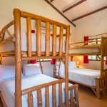Luxurious full sized bed below and double bed above.