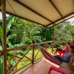 Each private bungalow has a hammock for you to relax on.