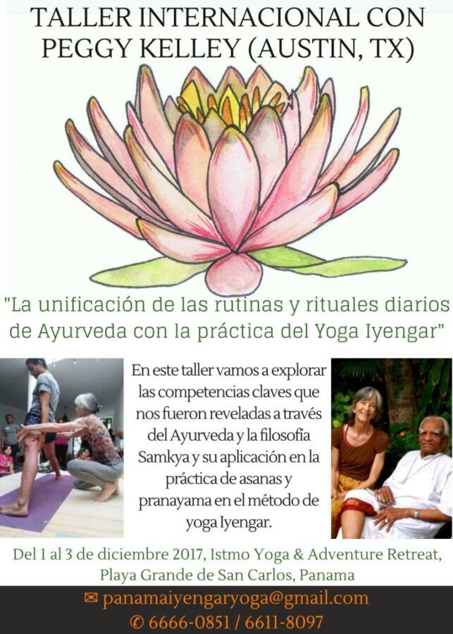 Taller Peggy kelly Iyengar Yoga en Panama